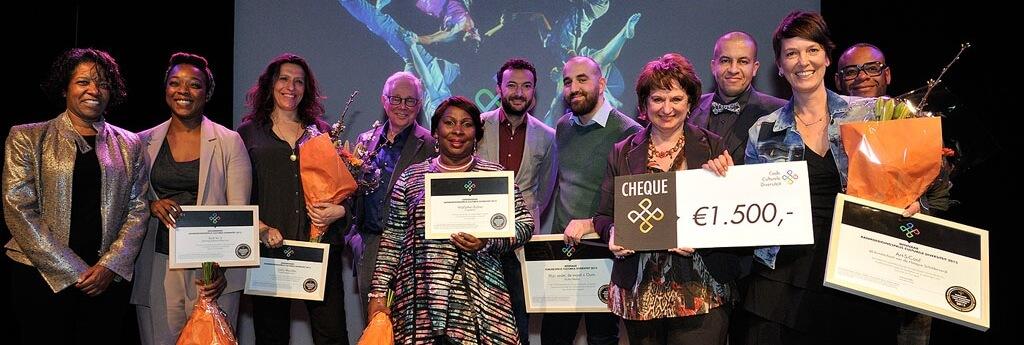 Winnaars, jury en genomineerden van de eerste CCD Award. Fotograaf: Henk Rougoor